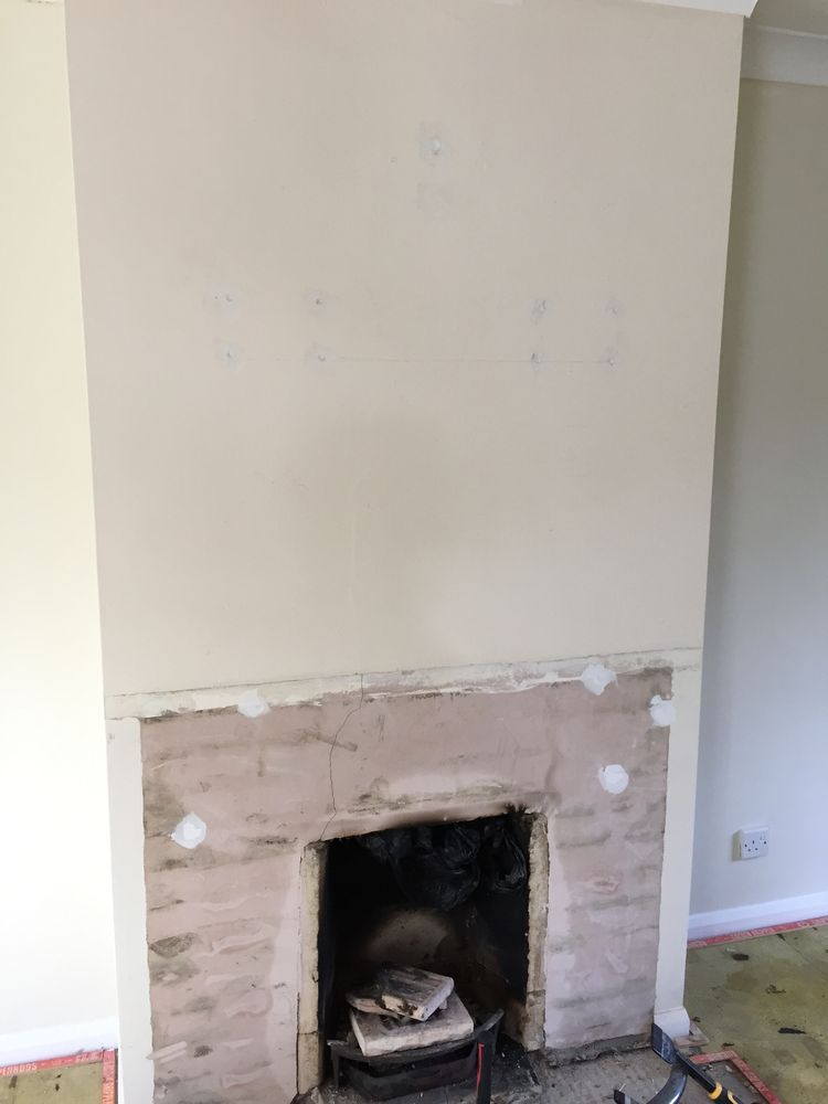 Fireplace Design plaster fireplace : Plaster Fireplace Recess and Cap Chimney - Chimneys & Fireplaces ...