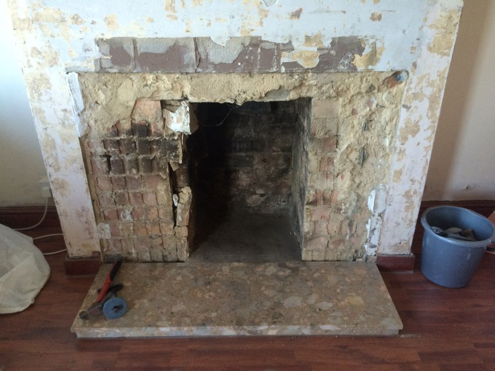 Re-plastering fireplace/chimney breast - Plastering job in ...