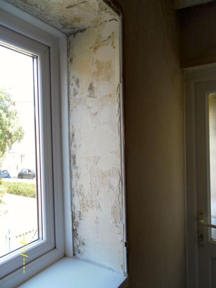 Plaster Inside Window Reveal Re Skimming Plaster