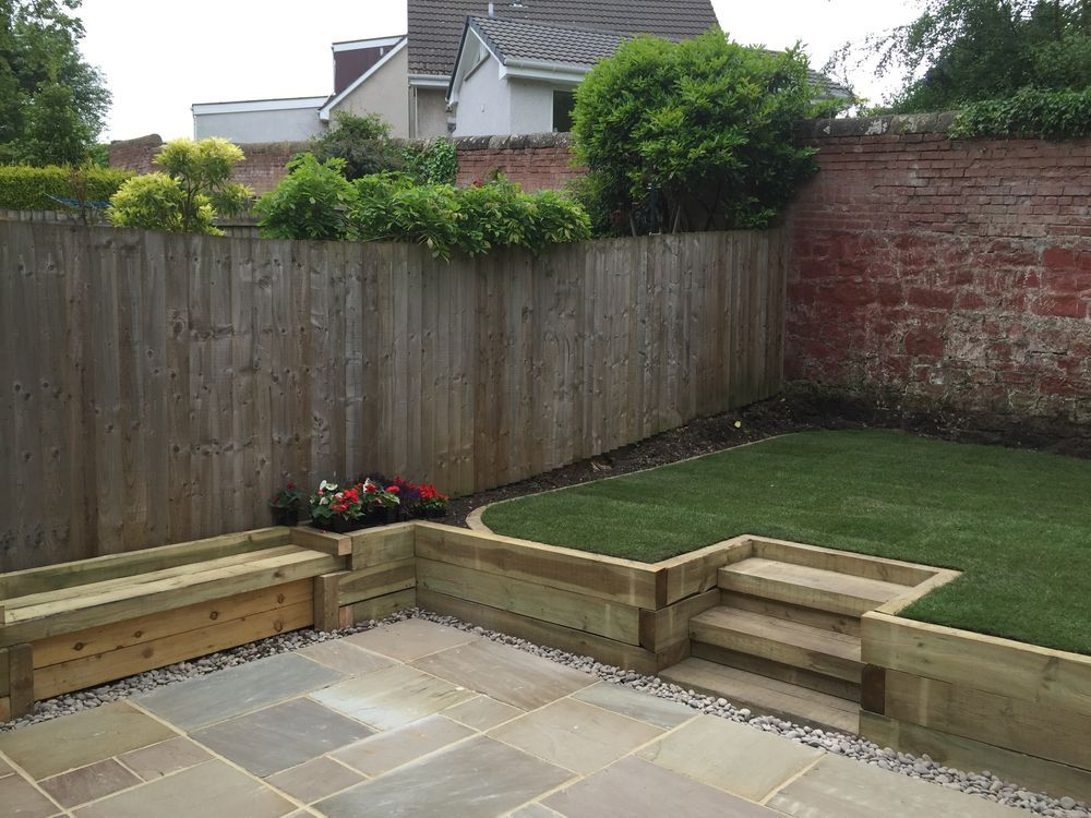 Polwarth gardening landscaping 100 feedback landscape for Split level garden decking