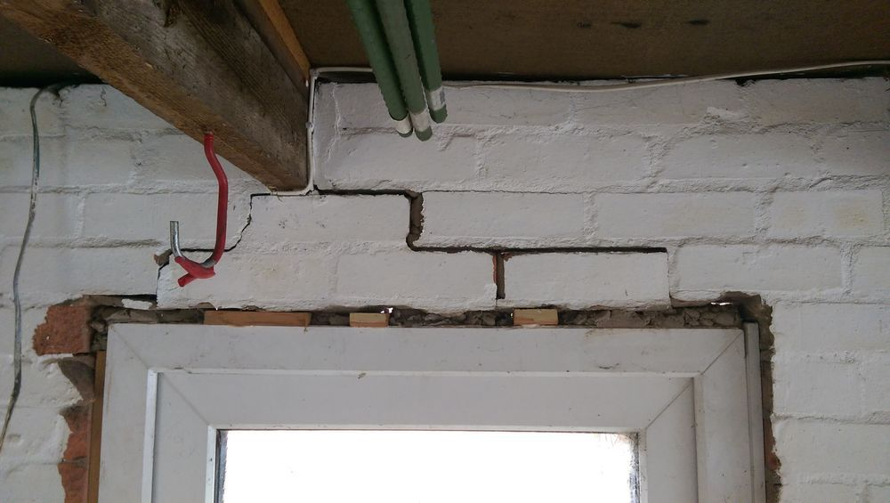 Fitting Lintel To Damaged Door And Window Frame