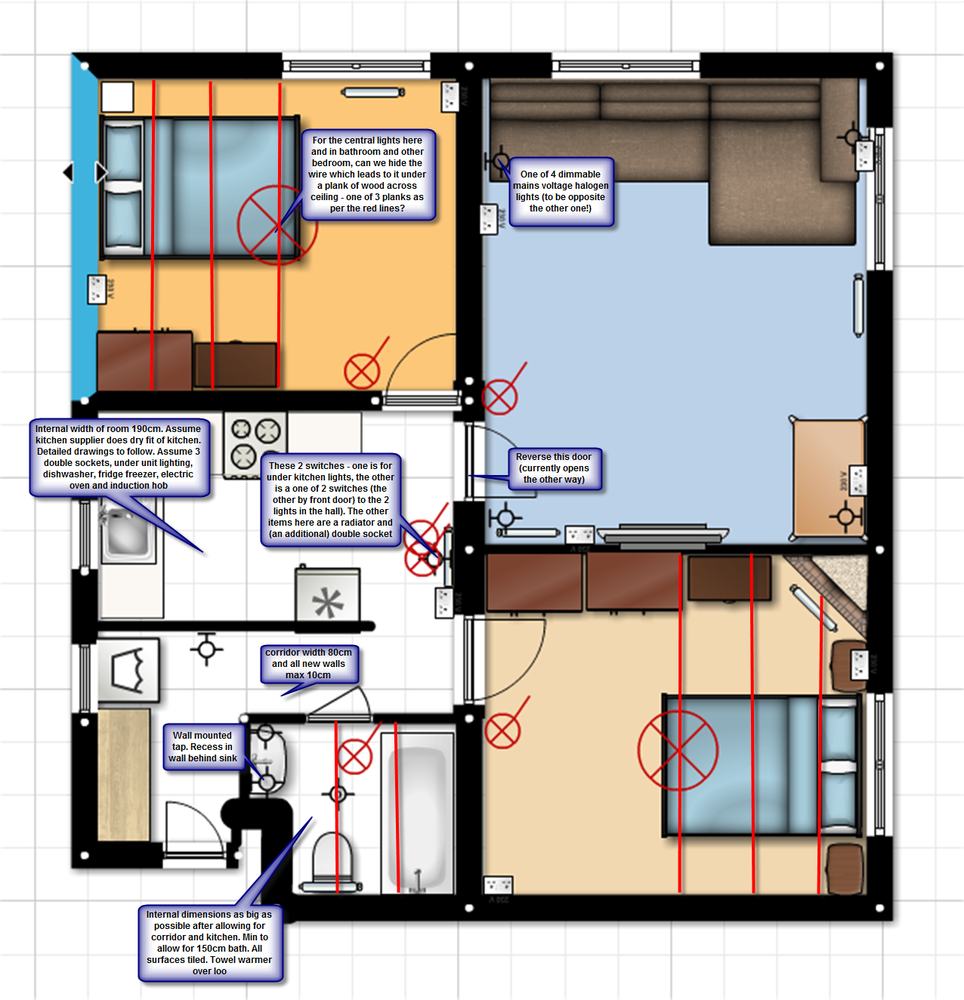 Internal Reconfiguration Of 2 Bedroom Flat Restoration Towel Warmer Wiring Diagram Photographs
