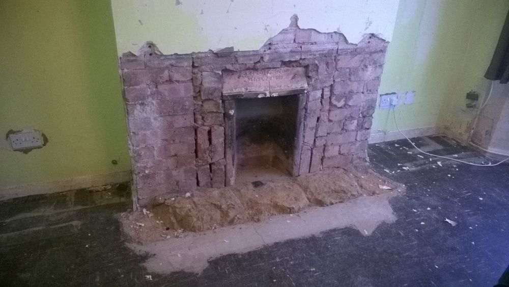 Remove Hearth Stone Amp Floor Cement Plaster Chim Breast