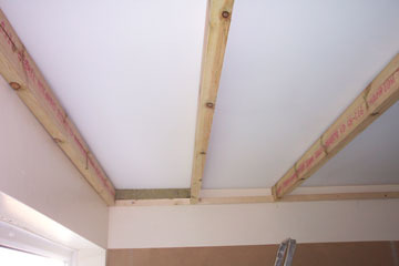 Timber Frame Suspended Ceiling For Sound Insulation