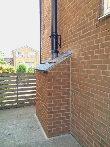 External Brick Fireplace Recess Gas Work Job In