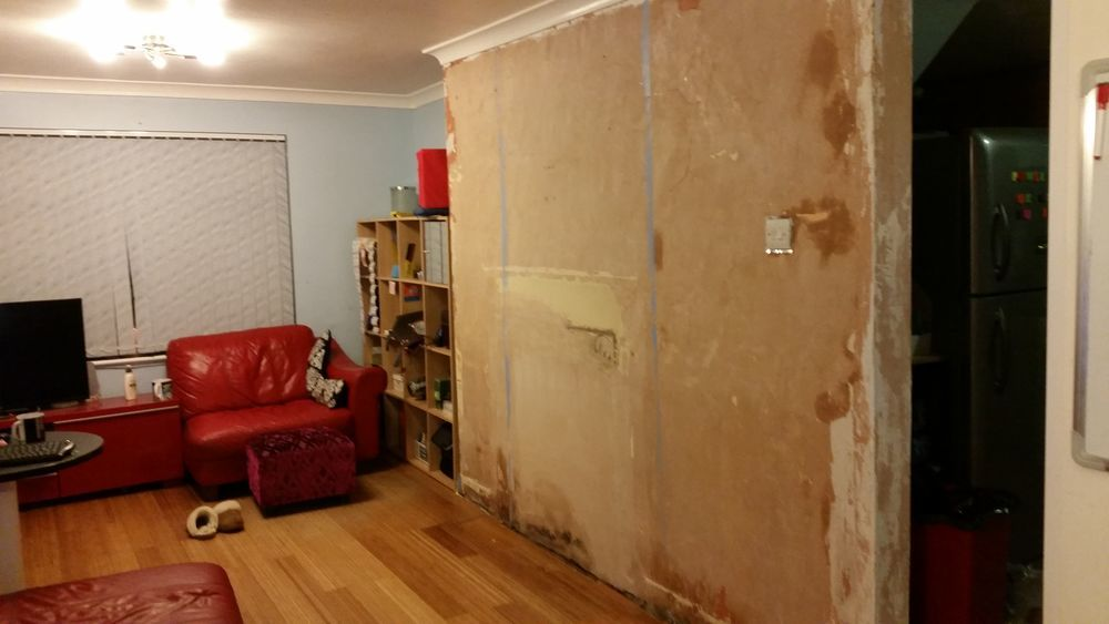 Living Room Wall plaster required 27 X 22 M Plastering job in