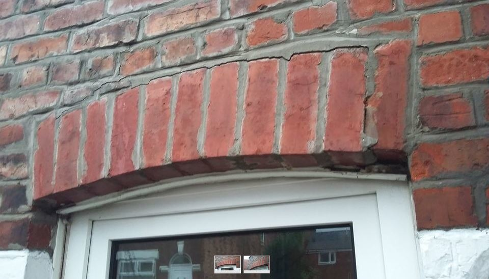 Brick Arch Repair Required Above Kitchen Window