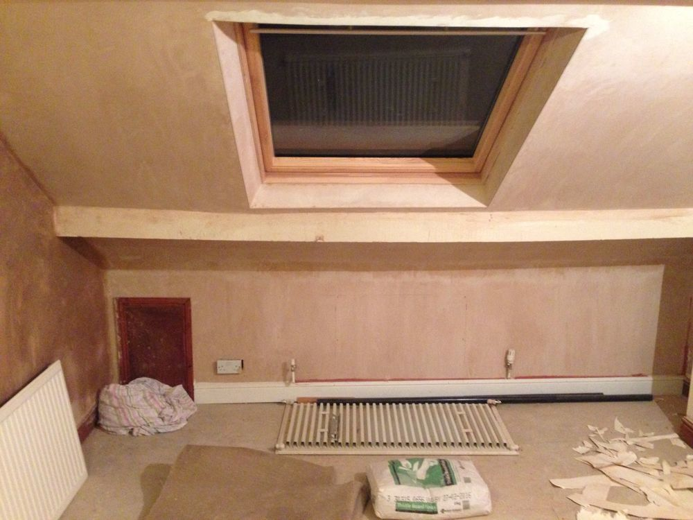 Painting loft bedroom and ensuite ceiling and walls Painting