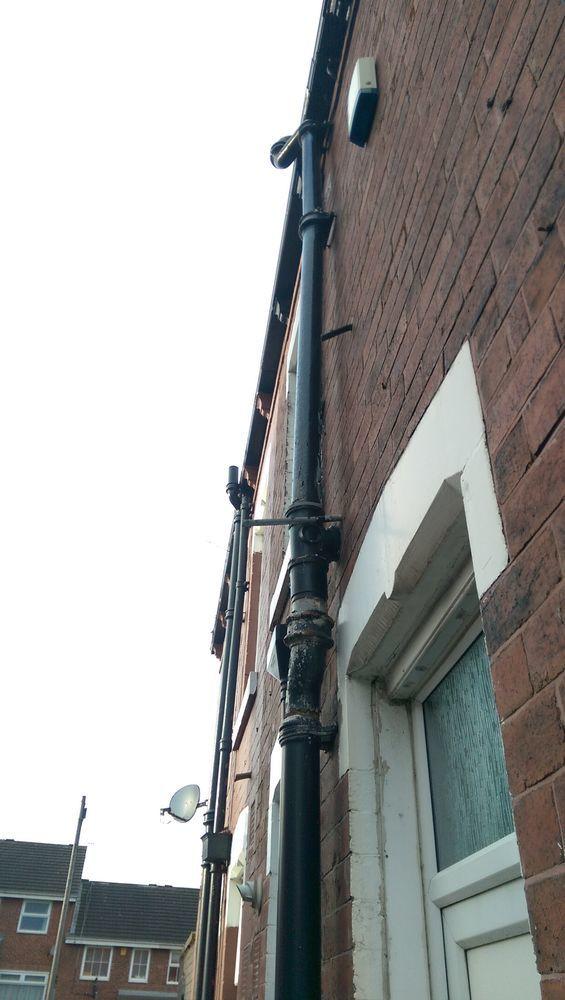 external drainpipe repair replacement plumbing job in leeds west