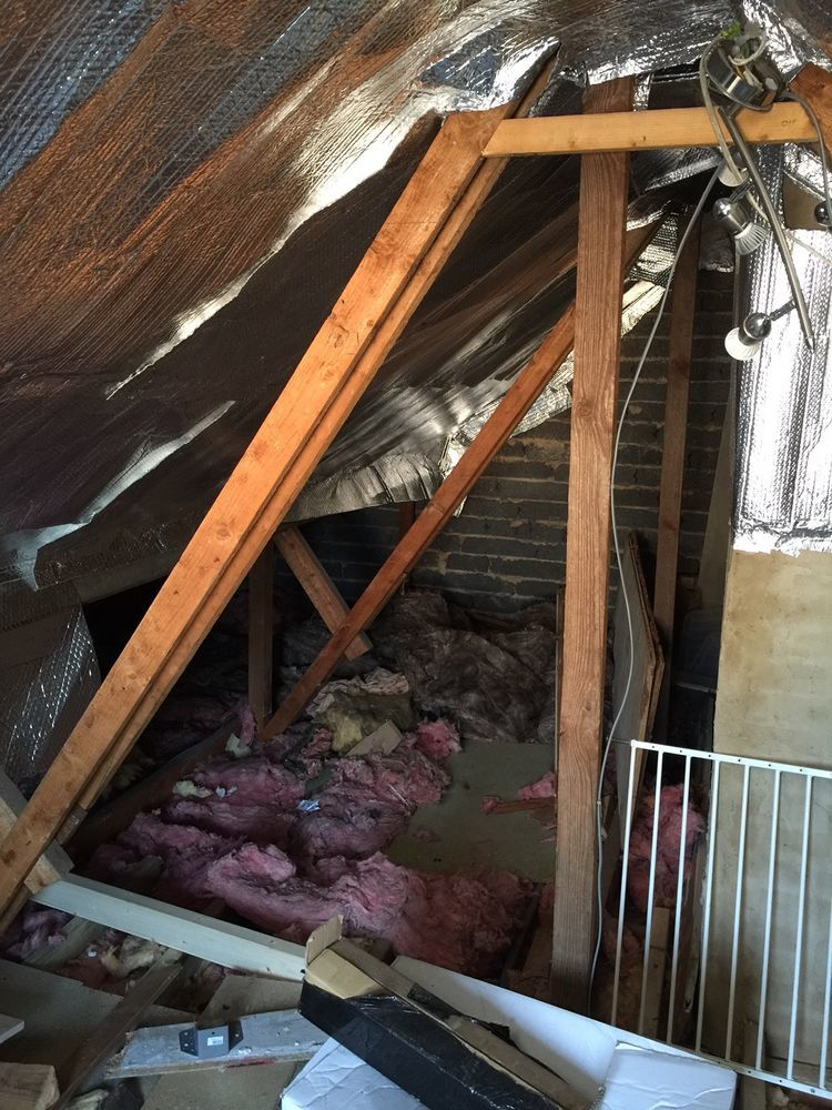 Tda Truss Removal X2 Amp New Flat Roof Roofing Flat Job