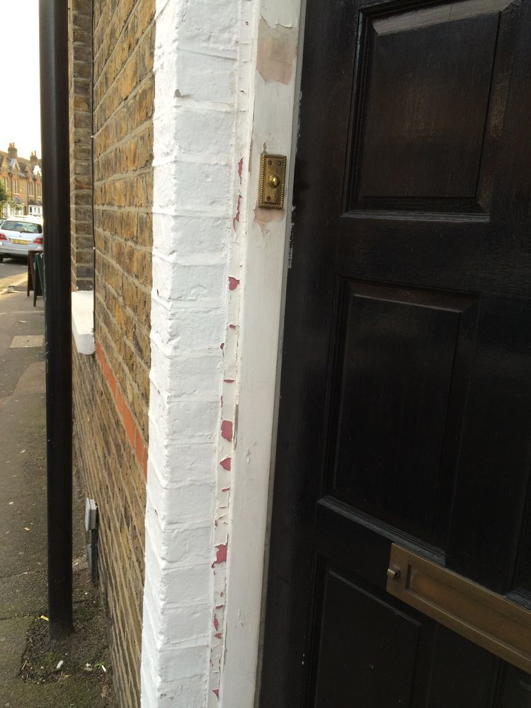 Removing paint from a brick wall 5x 10 meters restoration refurbishment job in south ealing - Removing paint from brick exterior collection ...
