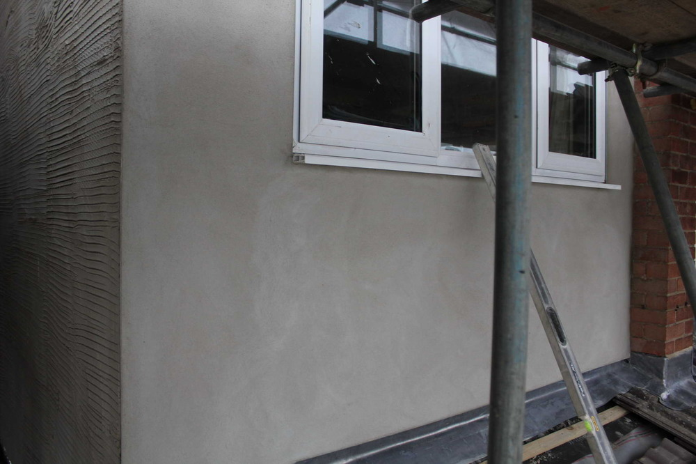 Exterior masonry paint on new rendered extension - Painting ...