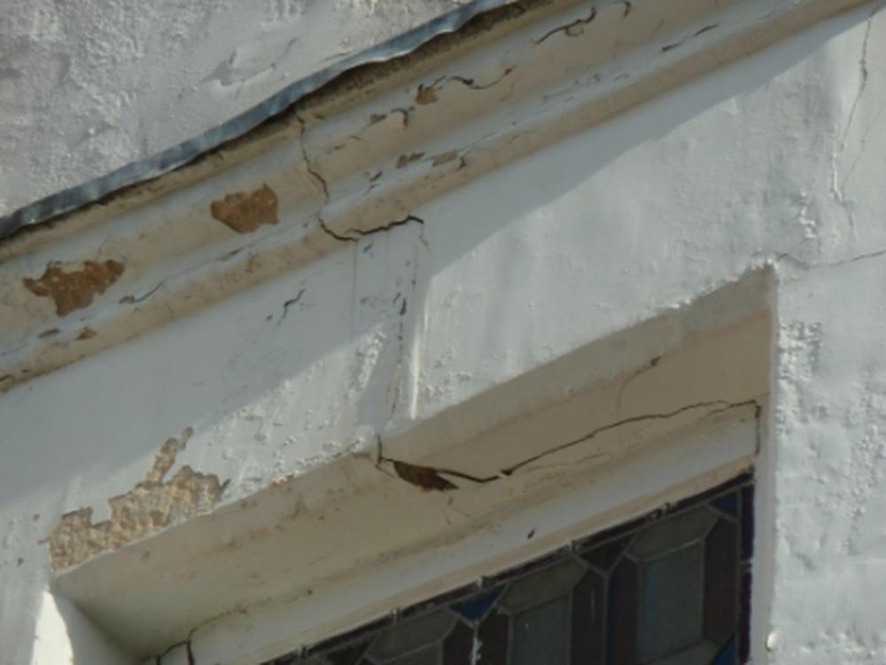 Repair Crack Above 1st Floor Bay Window Stonemasonry Job