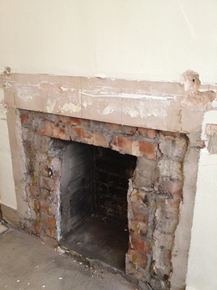 Widen Fireplace Bricklaying Job In Sale Cheshire