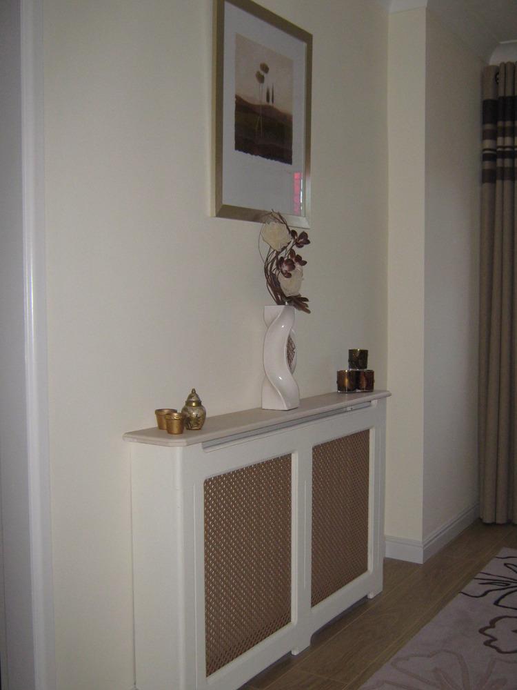 ... in matt cream emulsion, and radiator cabinate painted to match walls