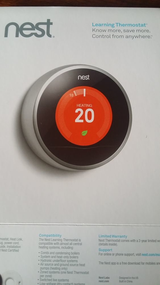 Nest 2 Thermostat Fitting - Central Heating job in Manchester