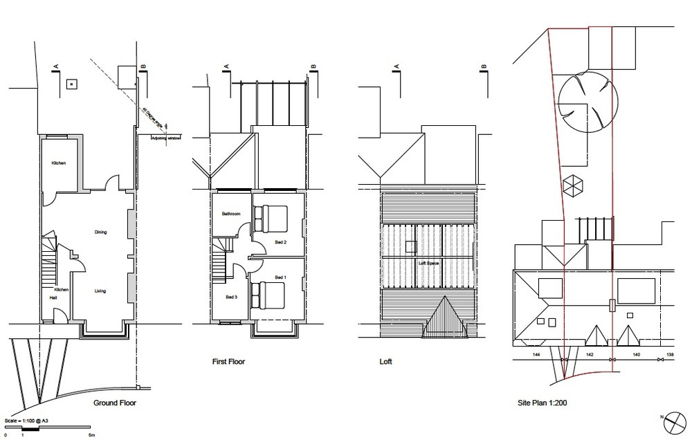 rear house extension 4x3m and loft conversion