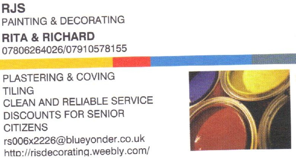 rjs painting and decorating painter decorator in gillingham