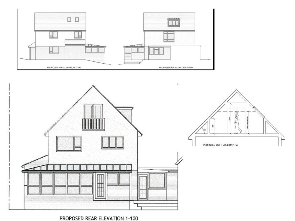 truss roof loft extension with planning permission