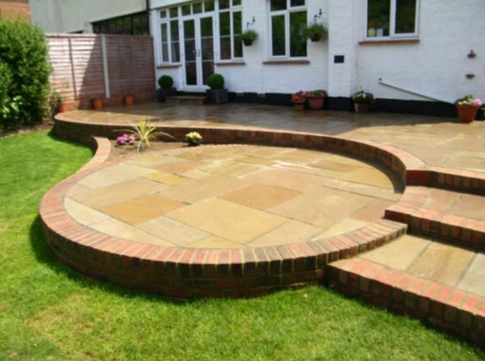 Levelling Patio Slabs Amusing Patio Wood Flooring Squares With Lots ...