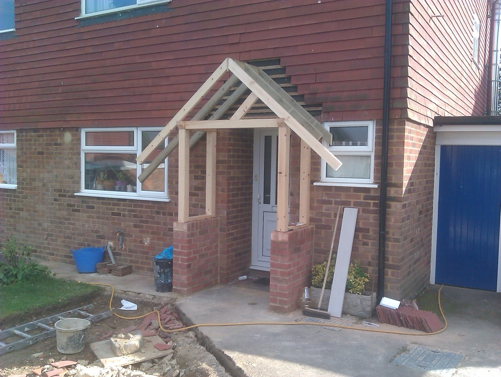 Bricklayer extension builder carpenter joiner in for Front porch construction