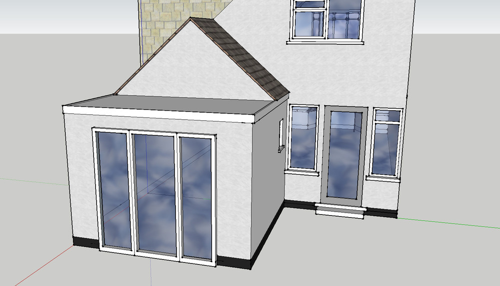 4m x 3m single storey kitchen extension extensions job for Kitchen design 4m x 3m