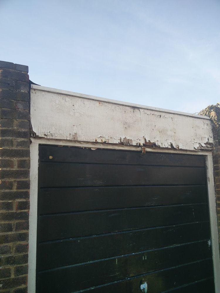 Upvc Pvc Cladding Needed Above Above Garage Door Fascias