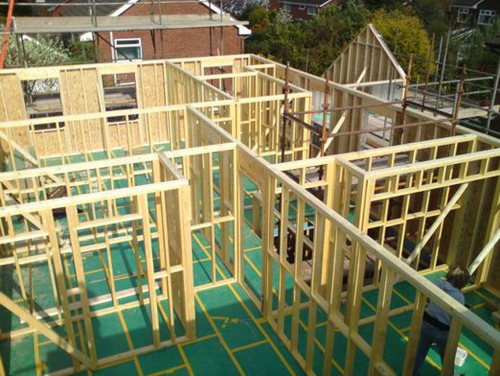 how to build a timber frame extension