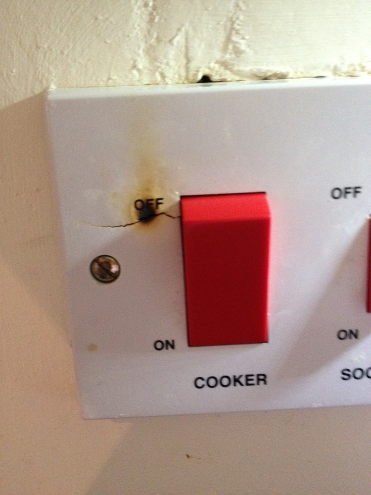Plug Socket Of Cooker Is Smoking Electrical Job In