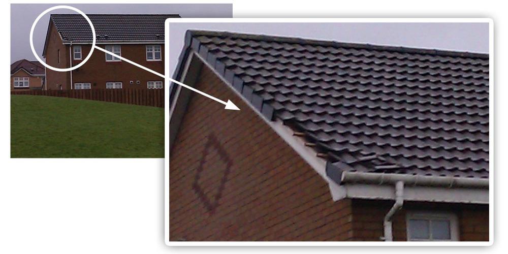 Roof tiles / storm damage - Roofing job in Coatbridge ...