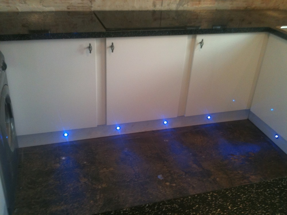 Kitchen installations 100 feedback kitchen fitter in - Led skirting board lighting ...