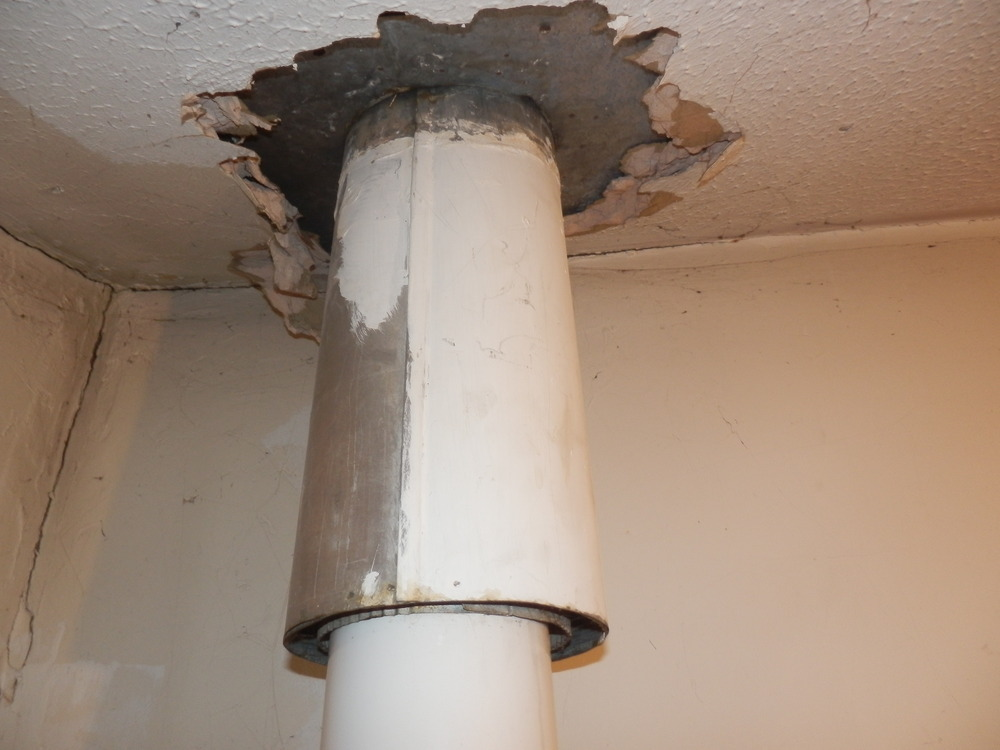 Remove Old Flue From Boiler And Make Good Central