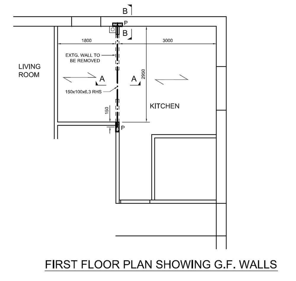 Remove Load Bearing Wall Between Kitchen Utility Room