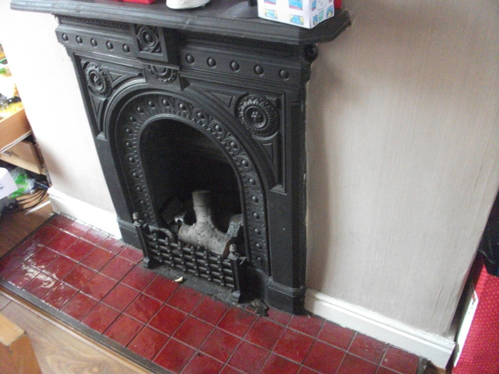Remove Cast Iron Fireplace And Brick Up Opening