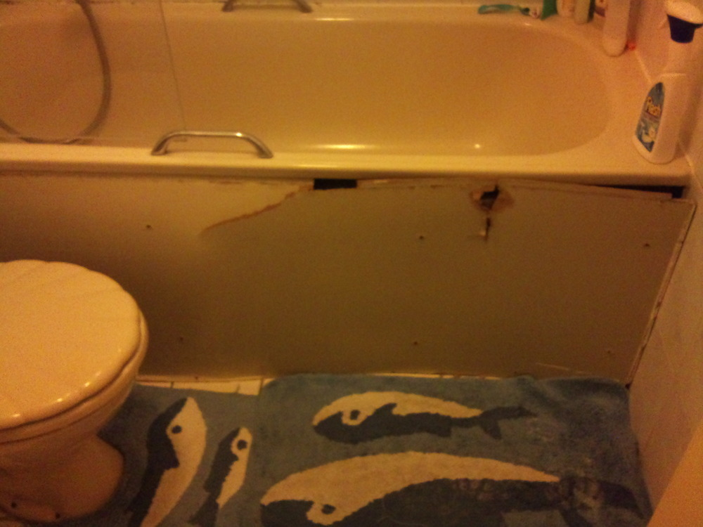 New bath panel small amount of tile resealing bathroom for Bathroom builders east london