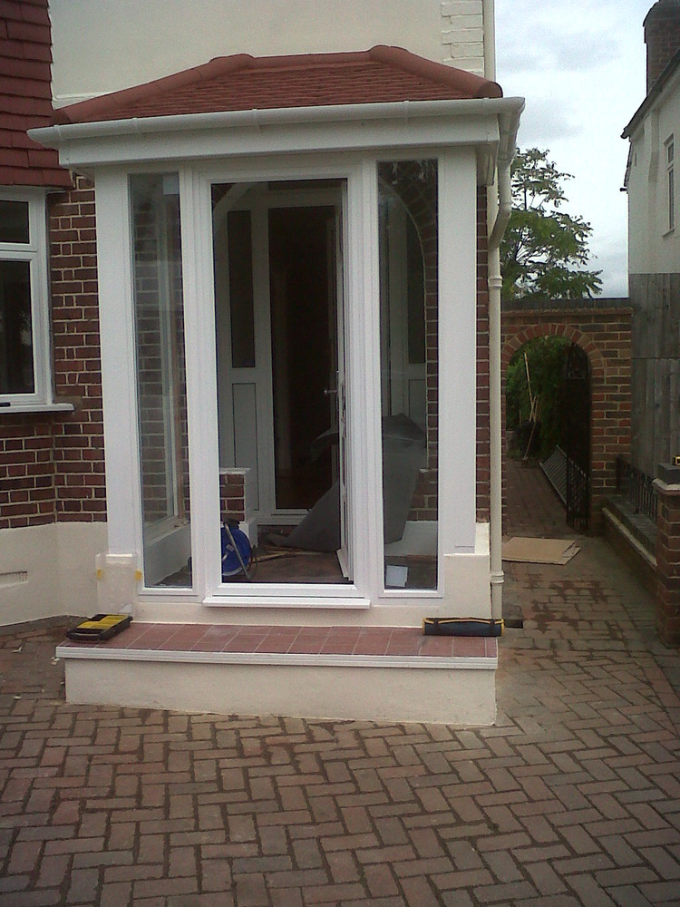 Smiley builders 100 feedback extension builder for Front porch extension