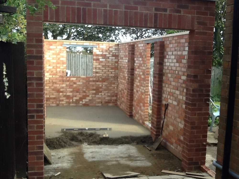 Affordable construction 100 feedback extension builder for Brick garages prices