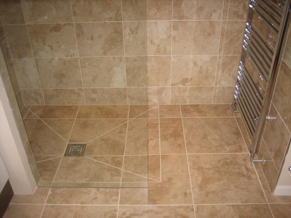 Tiling wet room floor