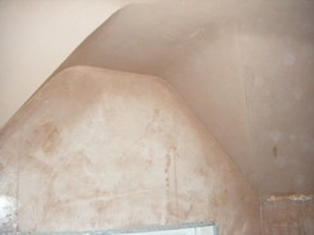 how to put coving on a curved wall