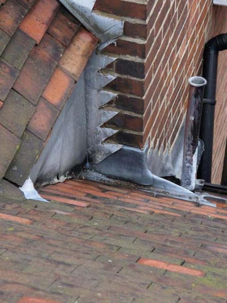Repair Of Flashing Around Chimney Stack Roofing Pitched