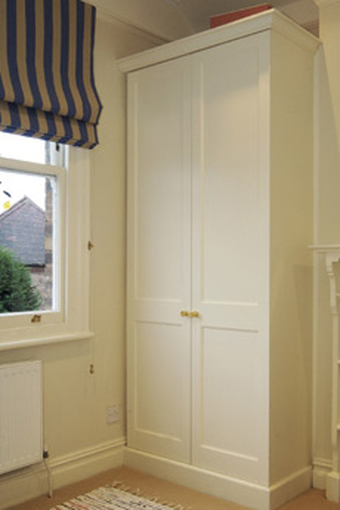 Built In Wardrobe In Sloped Alcove In Loft Room Carpentry Joinery