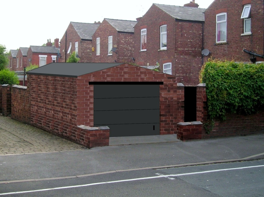 Free standing brick garage build garages sheds job in for Brick garage plans