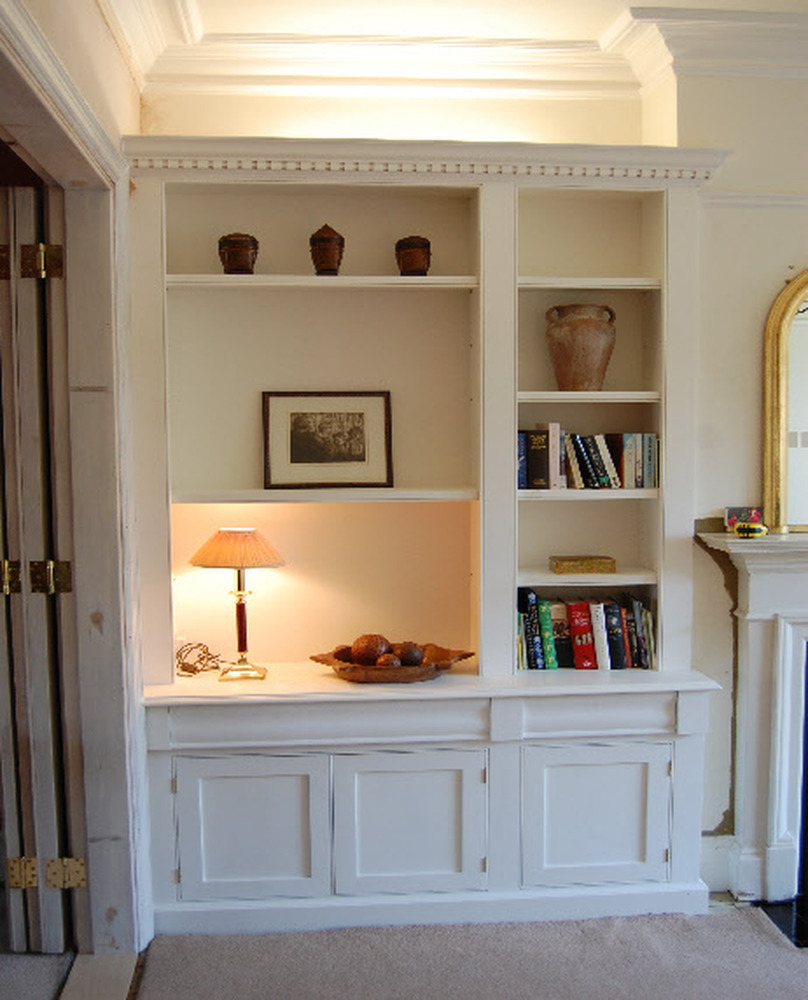 Dining Room Fitted Shelving And Cupboards