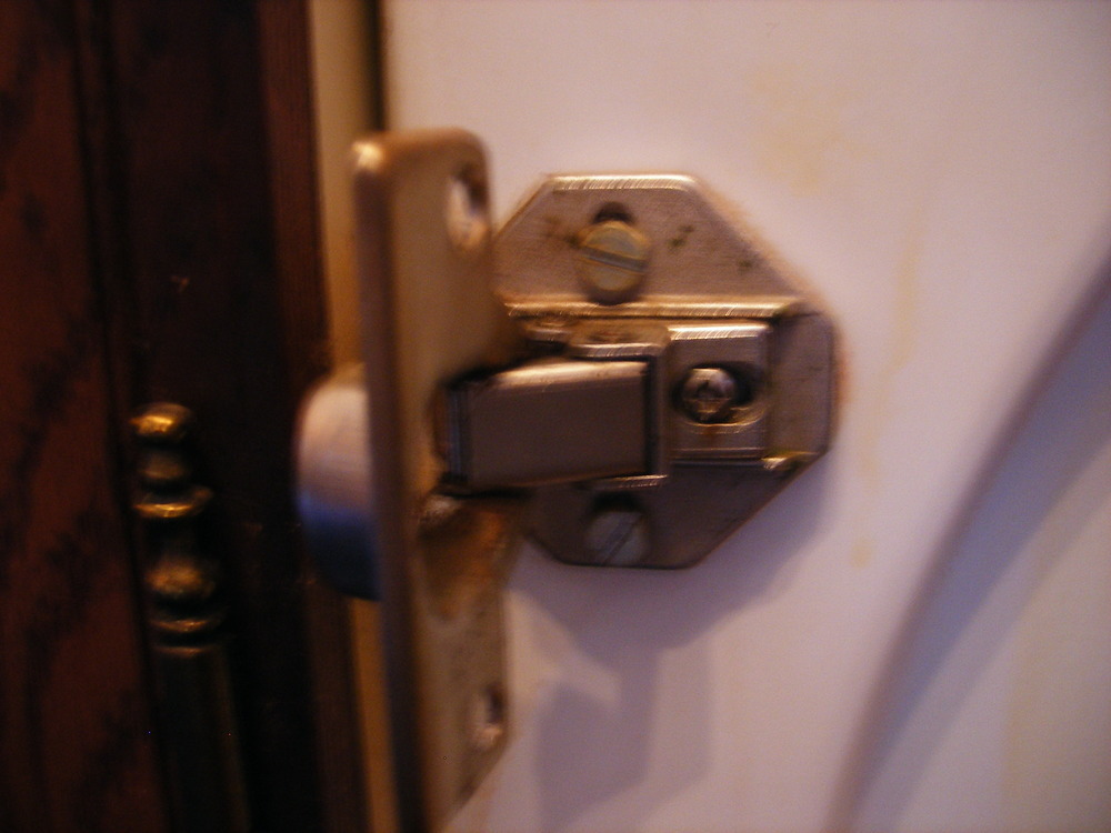 Hinge On Door To Integrated Washing Machine Kitchen