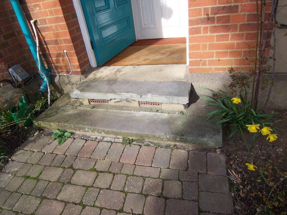 Replacement Front Doorstep For Victorian Villa Stonemasonry Job In