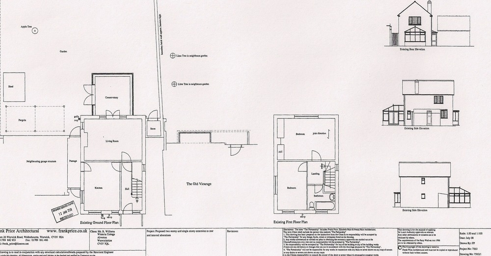 proposed two storey extension and internal alterat