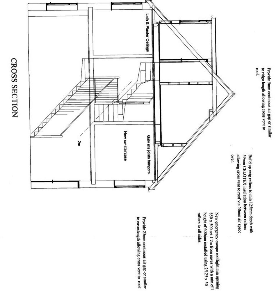 loft conversion  bedroom  shower room  stairs
