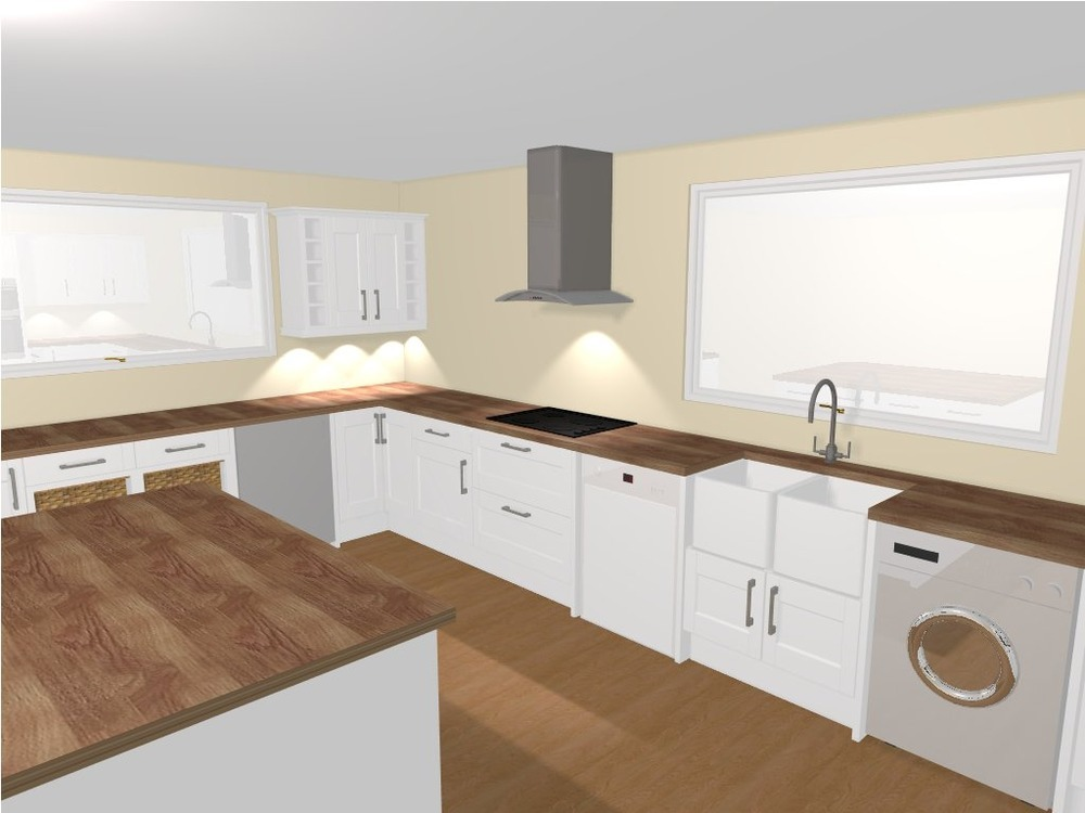 Knock Through Dining Kitchen And Install