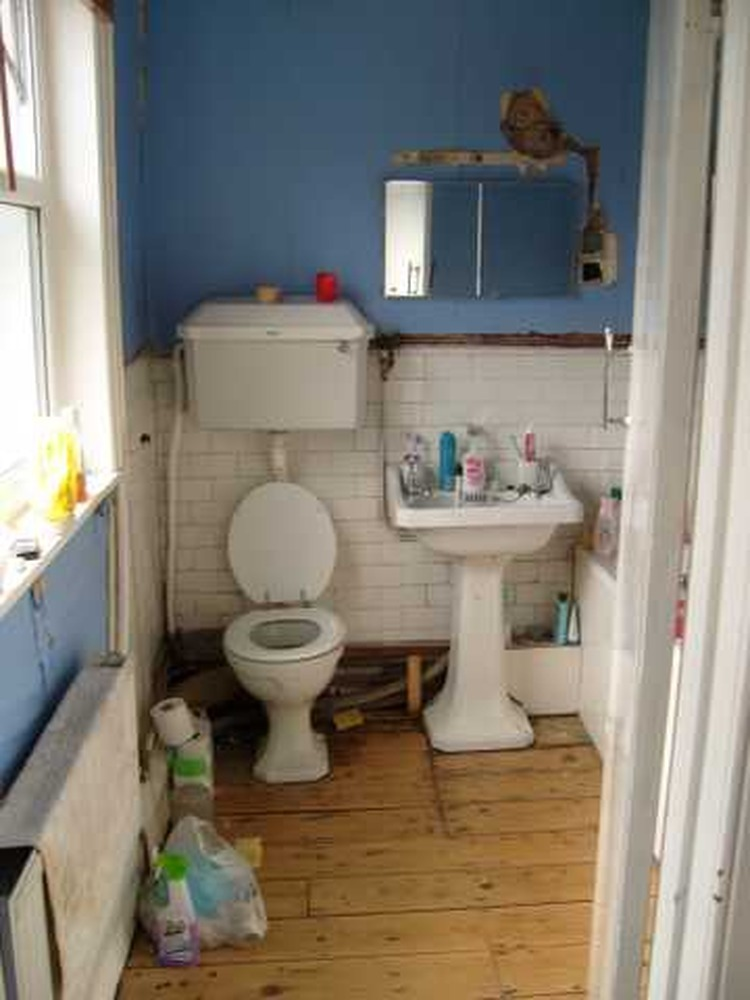 Boxing in pipes in bathroom carpentry joinery job in for Bathroom builders liverpool