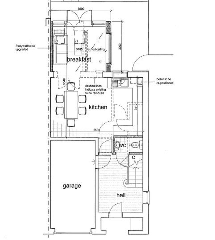 Ground Floor Extension, Fitted Kitchen And Toilet